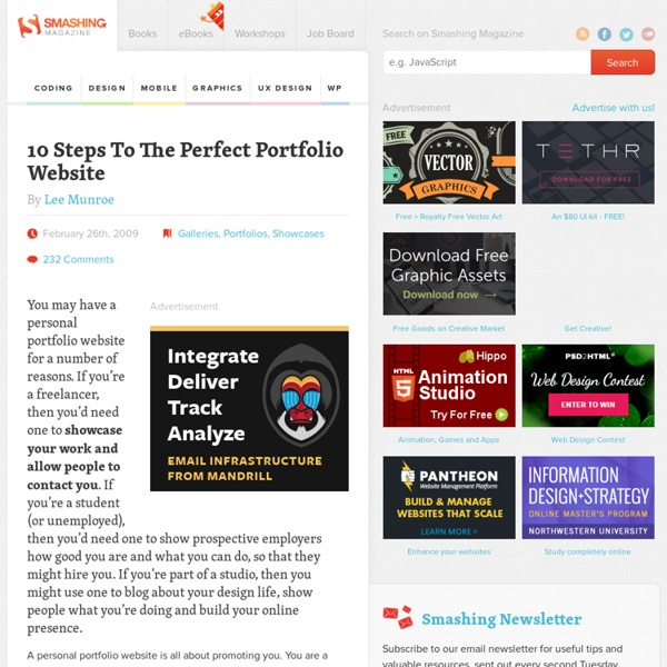 10 Steps To The Perfect Portfolio Website