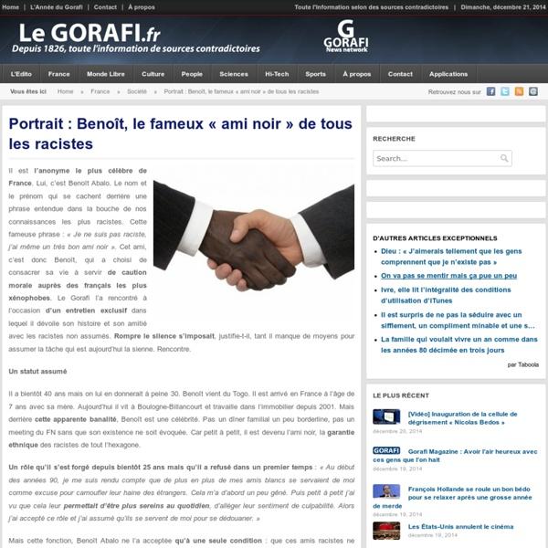 Portrait : Benoît, le fameux « ami noir » de tous les racistes