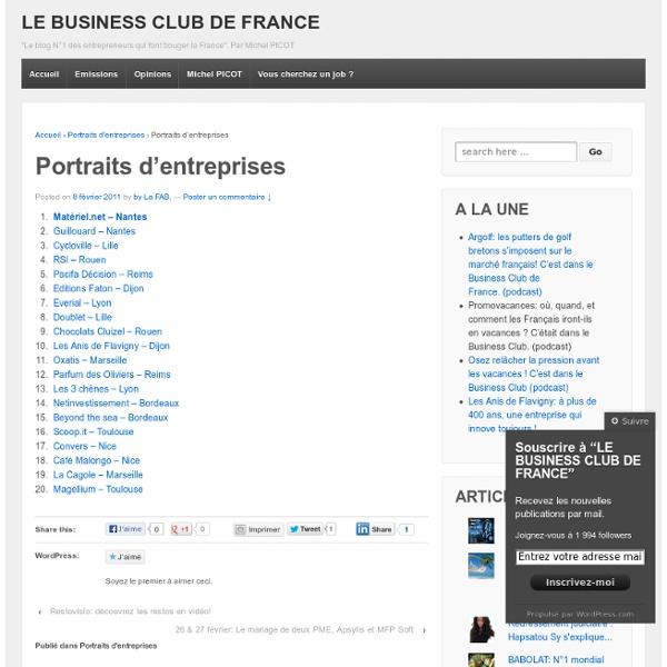 Portraits d'entreprises