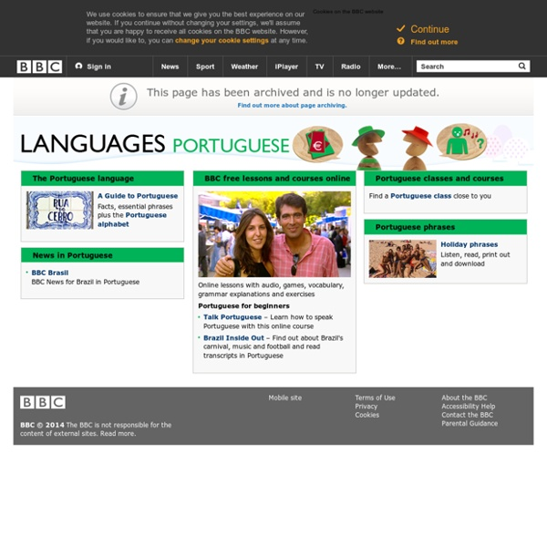 Learn Portuguese with free online lessons