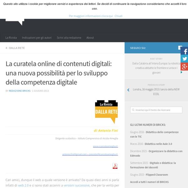 La curatela online di contenuti digitali: una nuova possibilità per lo sviluppo della competenza digitale – BRICKS
