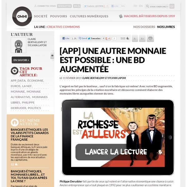 [APP] une autre monnaie est possible : une BD augmentée » Article » OWNI, Digital Journalism