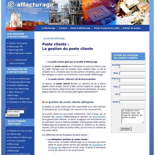 Poste clients - La gestion du poste clients