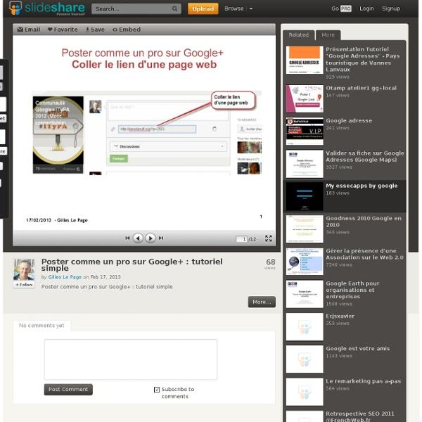 Poster comme un pro sur Google+ : tutoriel simple