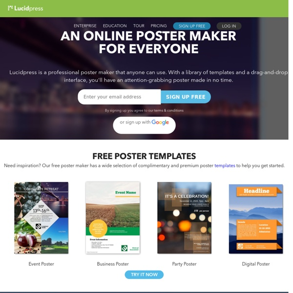 Free Online Poster Maker | Pearltrees