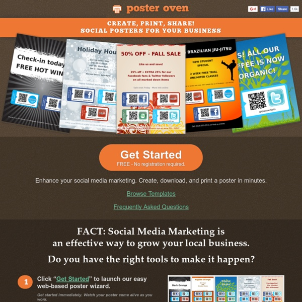 PosterOven - Social Poster Creator - Create, Print, Share!