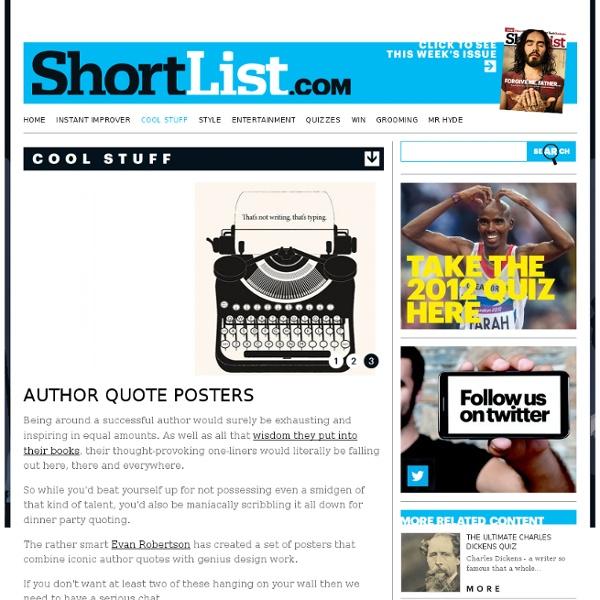 Author Quote Posters - Design