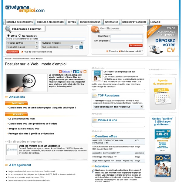 Postuler sur le Web : mode d'emploi