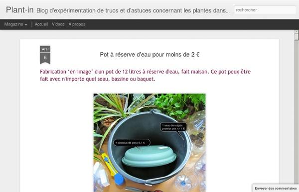 Pot à réserve d'eau pour moins de 2 €