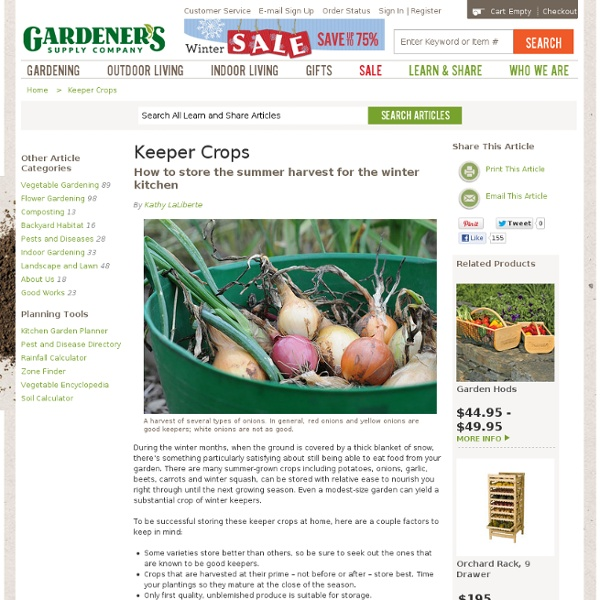 How to Grow and Store Potatoes, Onions, Garlic and Squash, Keeper Crops