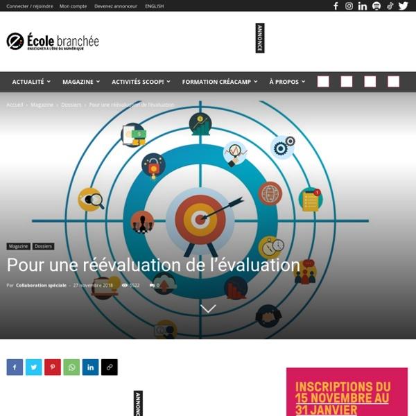 DOSSIER : Pour une réévaluation de l'évaluation