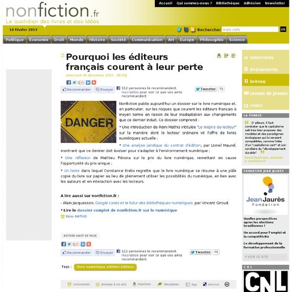 Pourquoi les éditeurs français courent à leur perte