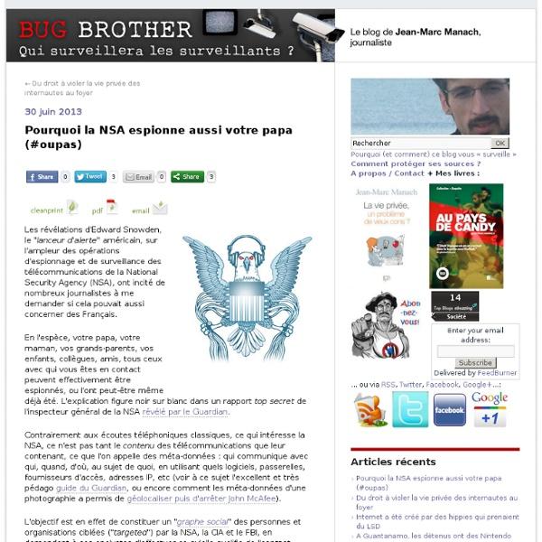 Pourquoi la NSA espionne aussi votre papa (#oupas)