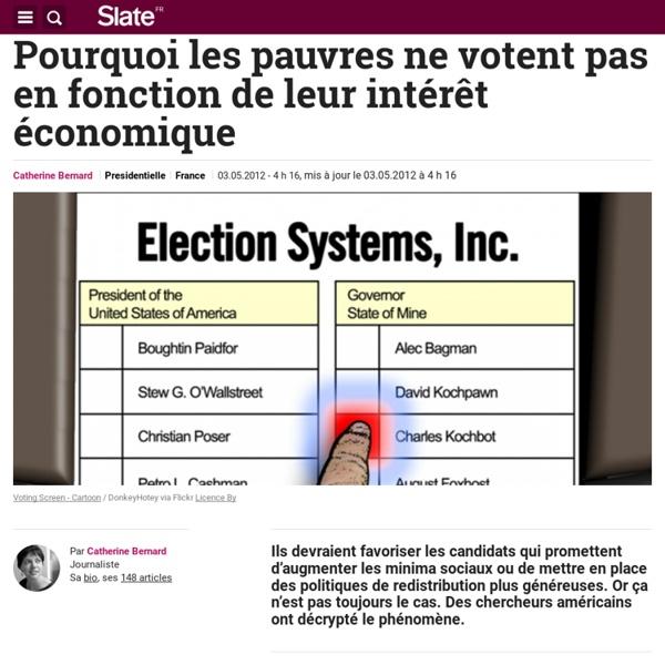 Pourquoi les pauvres ne votent pas en fonction de leur intérêt économique