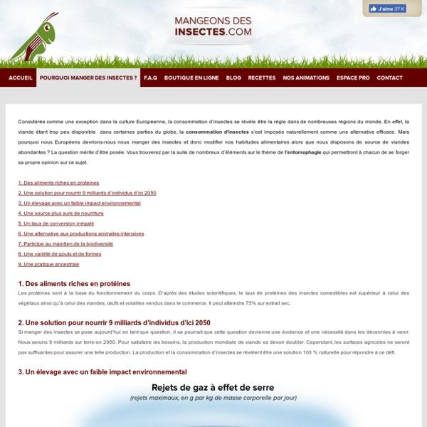 Mangeons Des Insectes : site spécialisé des insectes comestibles