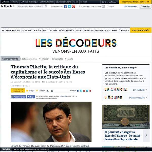 Pourquoi le livre de Piketty est-il un succès aux Etats-Unis ?