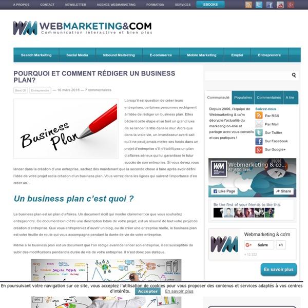 comment ecrire un business plan
