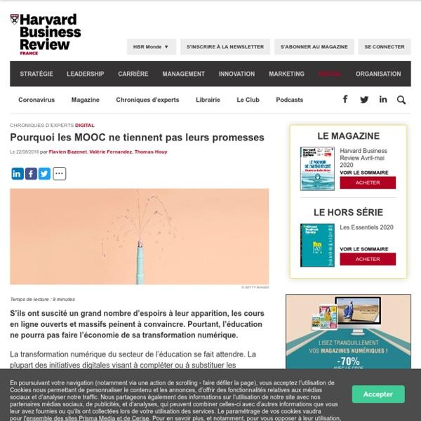 Pourquoi les MOOC ne tiennent pas leurs promesses