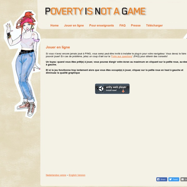 Poverty Is Not A Game