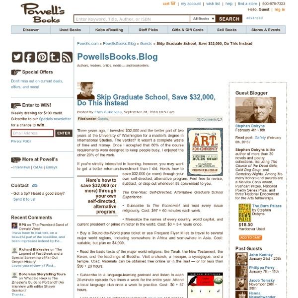 Books.Blog – Skip Graduate School, Save $32,000, Do This Instead