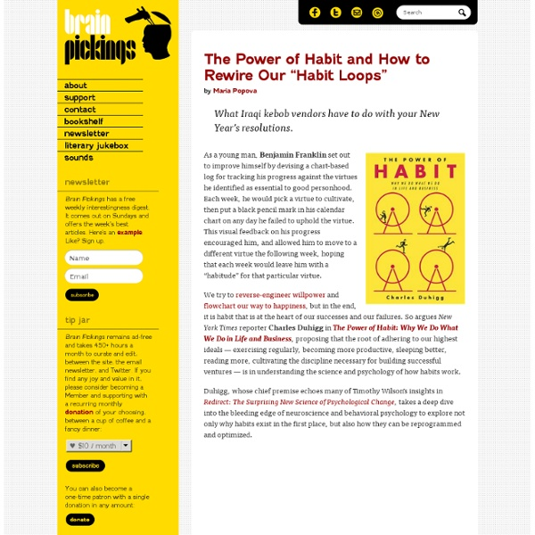 """The Power of Habit and How to Rewire Our """"Habit Loops"""""""