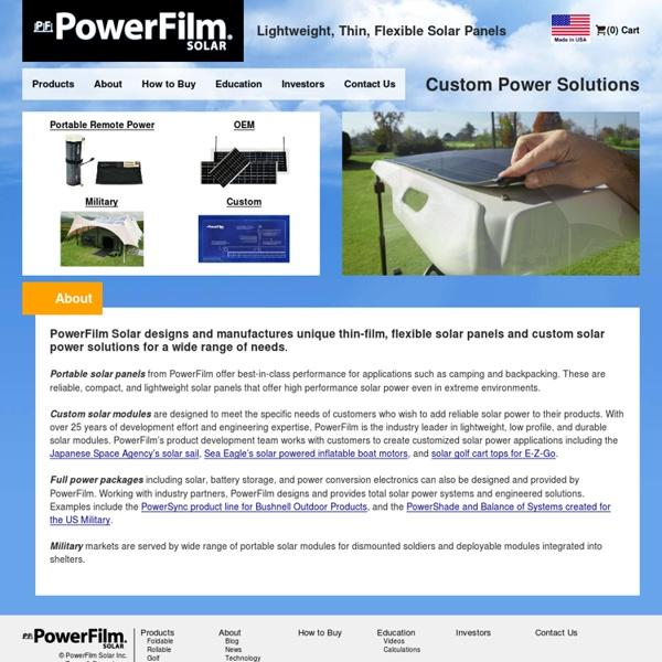 PowerFilm - lightweight, thin, flexible solar panels