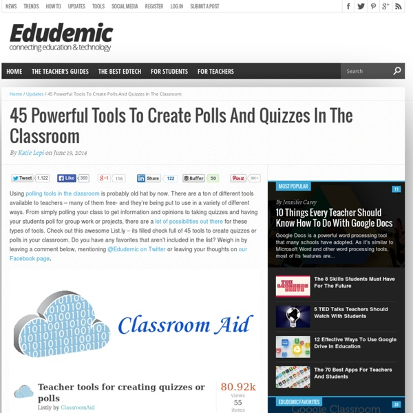 45 Powerful Tools To Create Polls And Quizzes In The Classroom