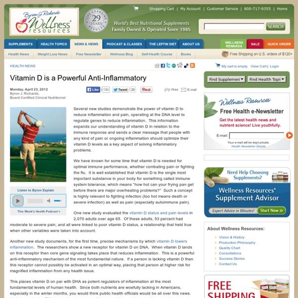 Vitamin D is a Powerful Anti-Inflammatory