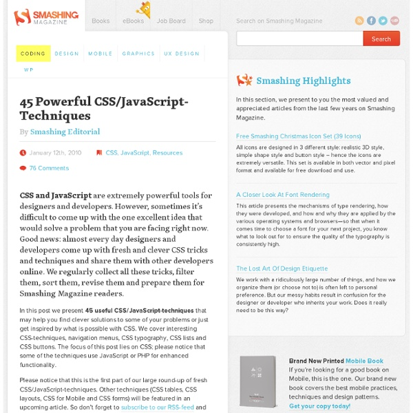 45 Powerful CSS/JavaScript-Techniques - Smashing Magazine