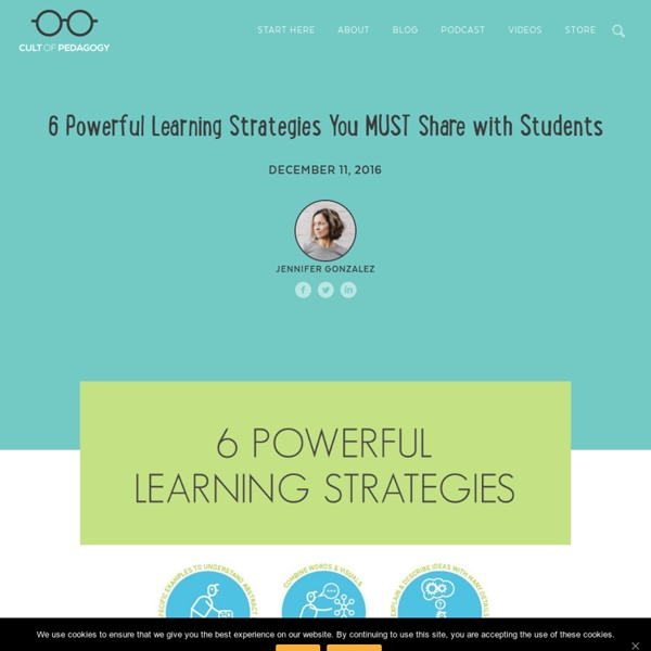6 Powerful Learning Strategies You MUST Share with Students