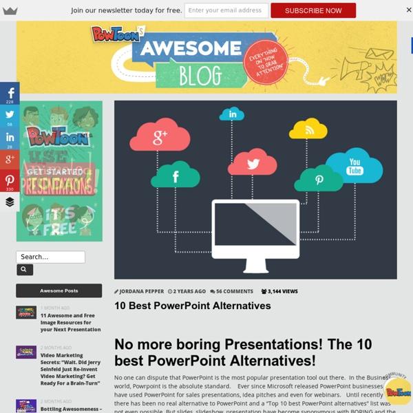 10 Best Powerpoint alternatives comparison by PowtoonPowToon presents