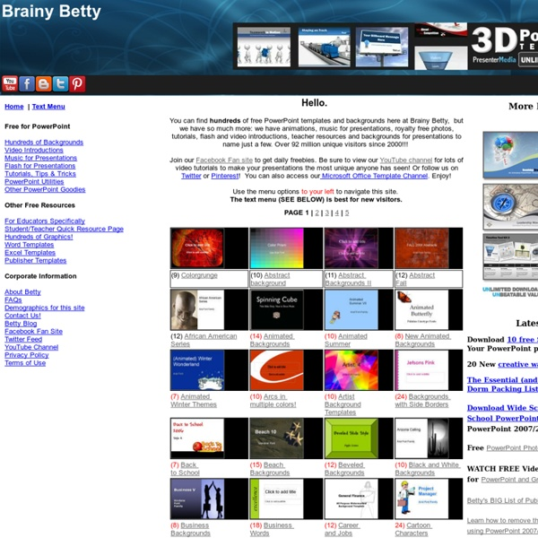 Download free powerpoint backgrounds and templates brainy betty download free powerpoint backgrounds and templates brainy betty toneelgroepblik Gallery