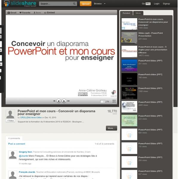 PowerPoint et mon cours - Concevoir un diaporama pour enseigner