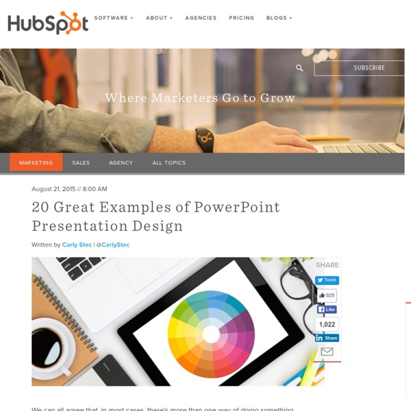 20 Great Examples of PowerPoint Presentation Design