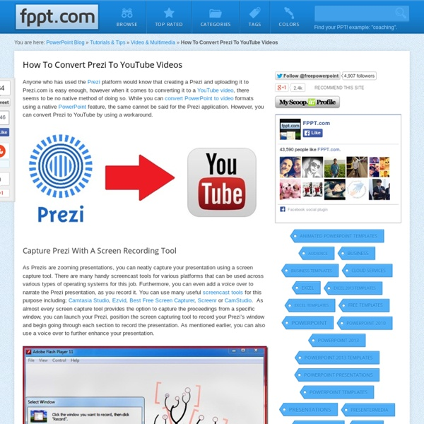 How To Convert Prezi To YouTube Videos