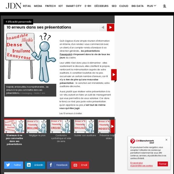 10 erreurs dans ses présentations - Journal du Net Management