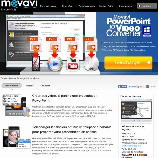 PowerPoint vers Vidéo – Télécharger le Convertisseur de présentations PowerPoint