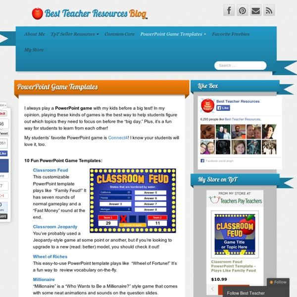 PowerPoint Game Templates - Best Teacher Resources Blog