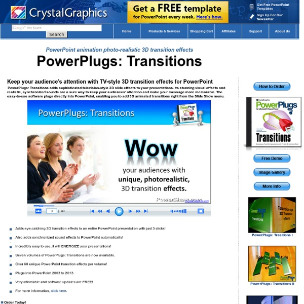 PowerPoint transitions, Power Point slide transitions, transition effects - PowerPlugs: Transitions