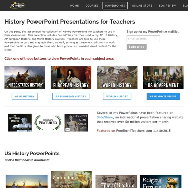 History PowerPoints for Teachers - TomRichey.net
