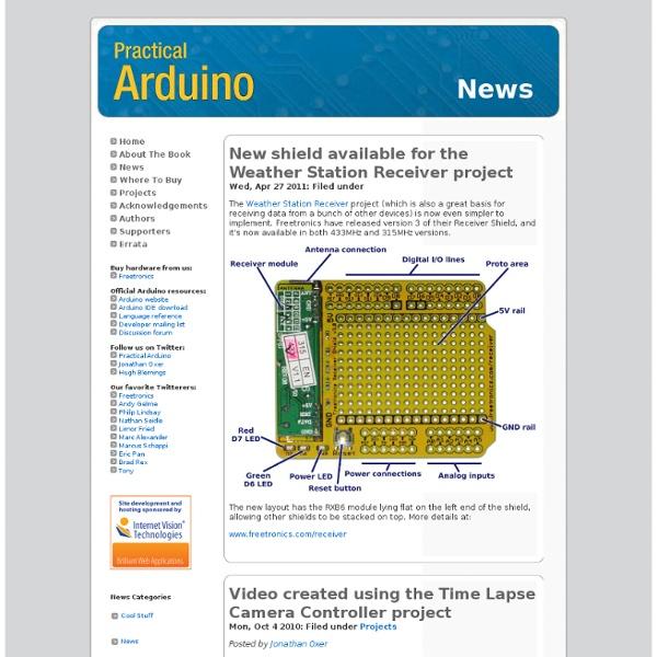 Practical Arduino: News