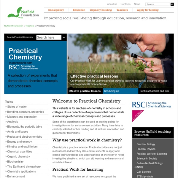 Home - Practical Chemistry
