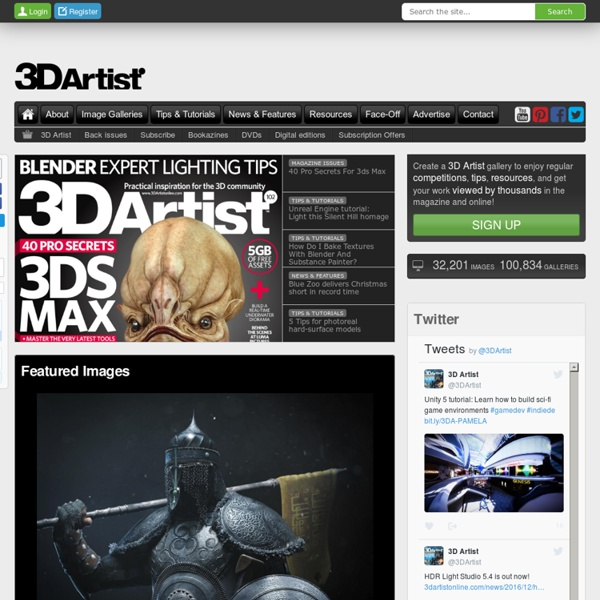 3D Artist - Practical inspiration and advice for the 3D community