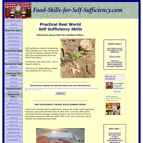 Practical self sufficiency through food skills.