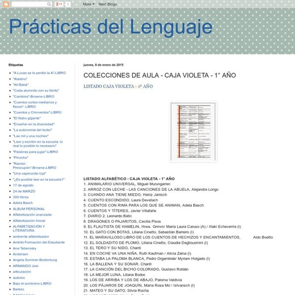 Prácticas del Lenguaje: COLECCIONES DE AULA - CAJA VIOLETA - 1° AÑO