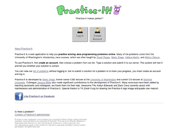 Practice-It! - Problems