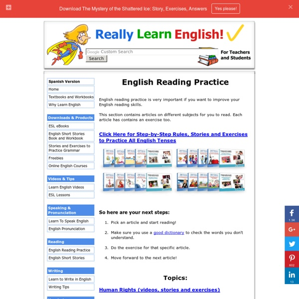 English Reading Practice - Educational Stories, Articles and Exercises