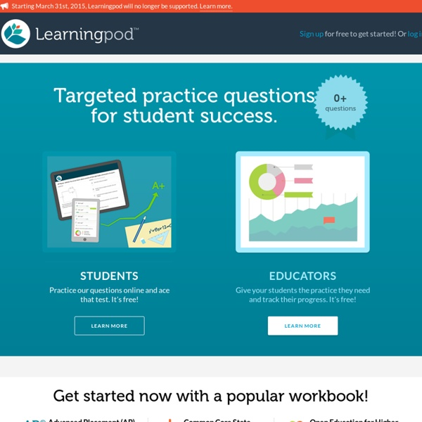 Free practice questions for teachers and students - Learningpod
