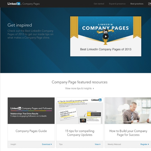 Best Practices for your Company Page