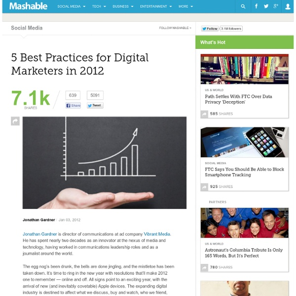 5 Best Practices for Digital Marketers in 2012